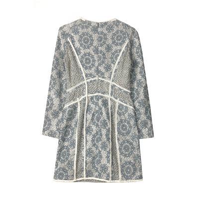 geometric pattern dress mint